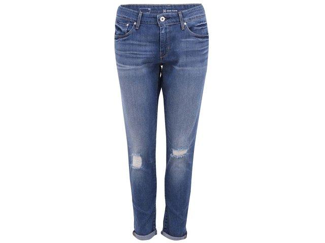 Modré dámské skinny džíny s