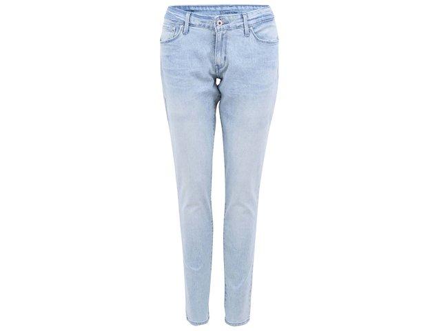 Světle modré dámské skinny džíny se sepraným efektem Levi's®