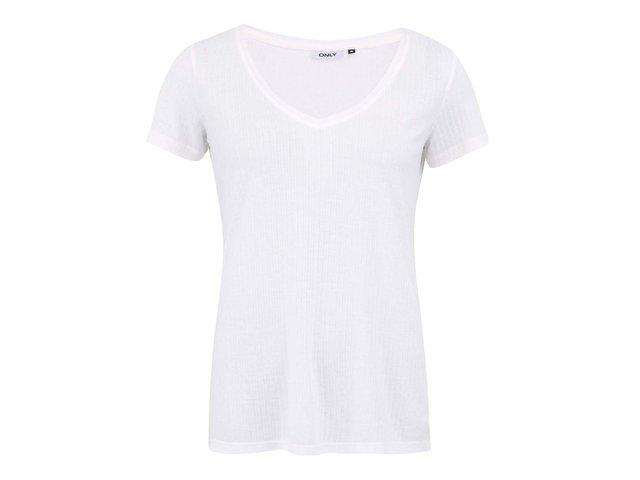 Bílé volnější tričko ONLY Web