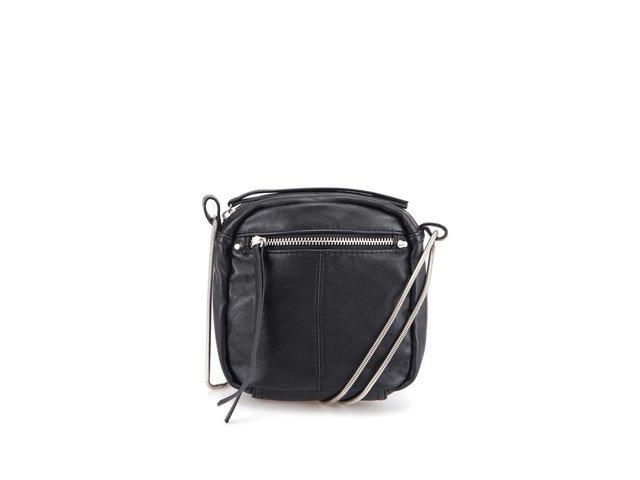 Černá kabelka přes rameno Pieces Asta