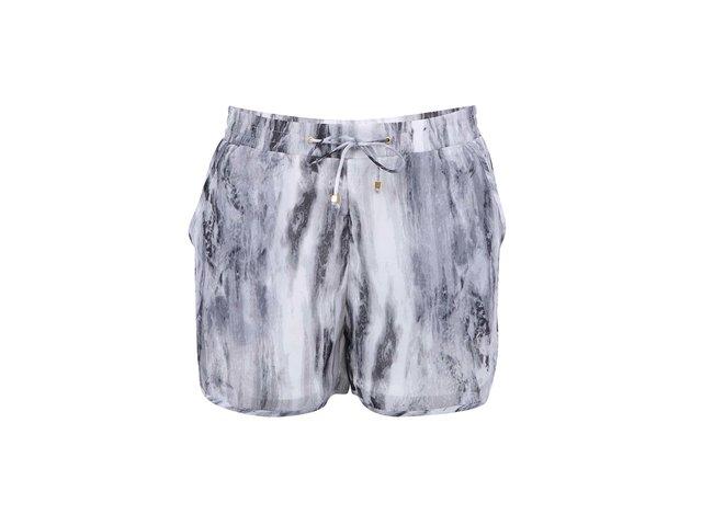 Šedo-bílé kraťasy Vero Moda Marble