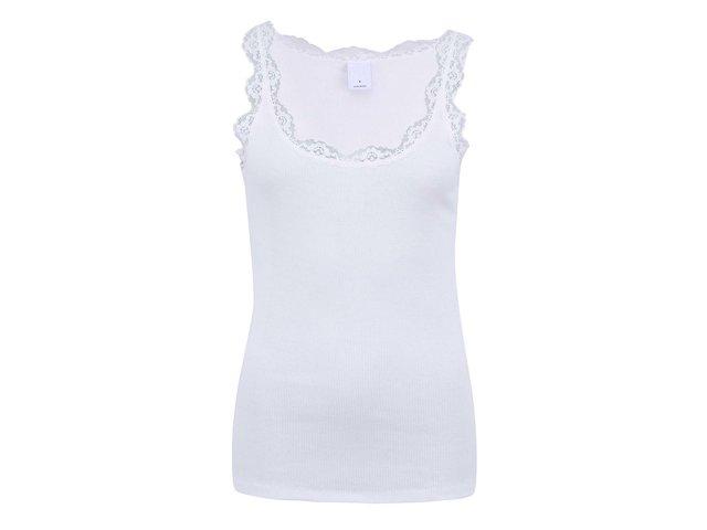 Bílé tílko s krajkovanými detaily Vero Moda Lena