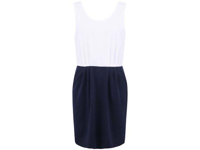 Bílo-modré šaty Vero Moda Caroline