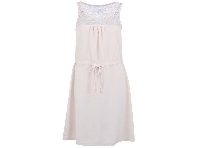 Béžové šaty Vero Moda Zana