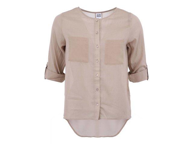 Béžová volnější košile Vero Moda Erina