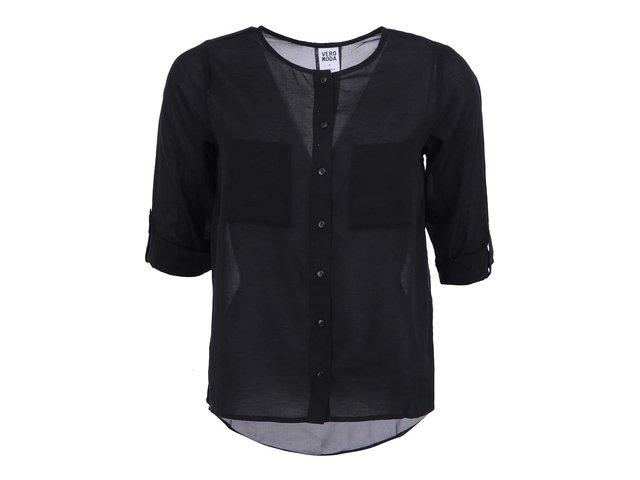 Černá volnější košile Vero Moda Erina