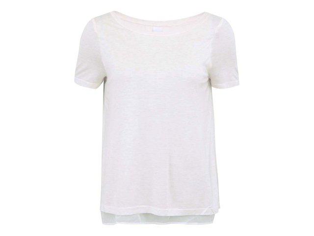Krémové tričko s průstřihem na zádech Vero Moda Marie