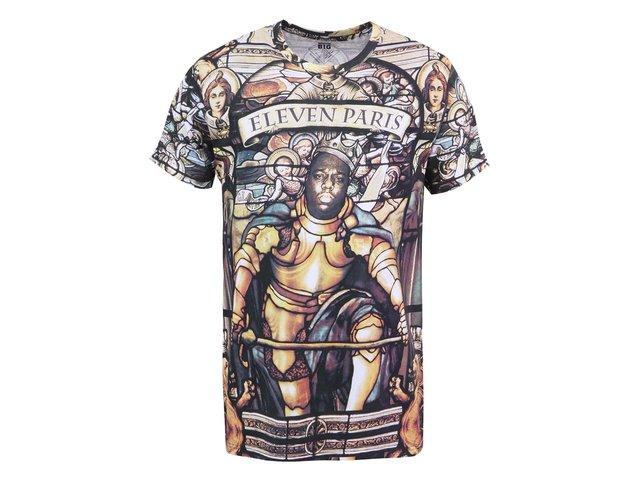 Hnědé pánské triko s potiskem Eleven Paris Vigy