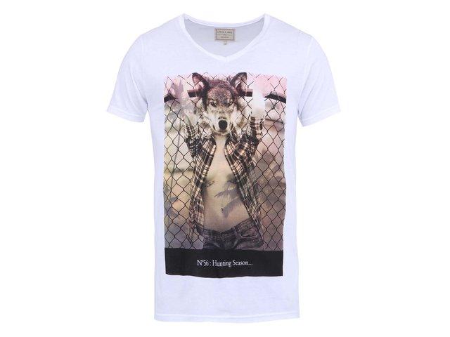 Bílé pánské triko s potiskem Eleven Paris Agry