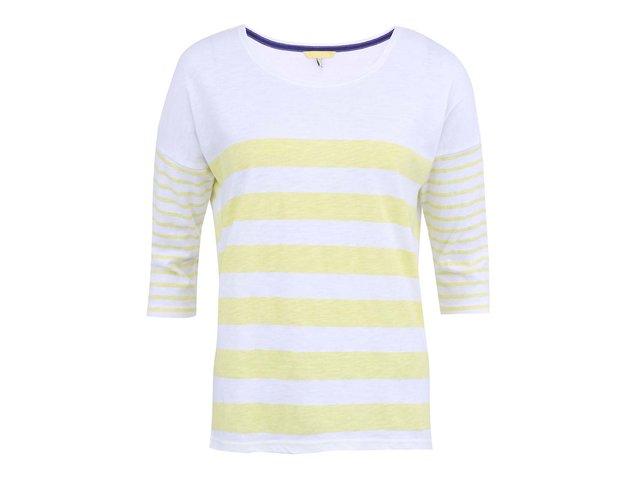 Žluté pruhované triko s 3/4 rukávem Tom Joule Sunny