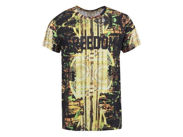 Hnědé pánské triko s potiskem Eleven Paris Slofry