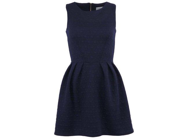 Tmavě modré šaty se zipem na zádech Closet