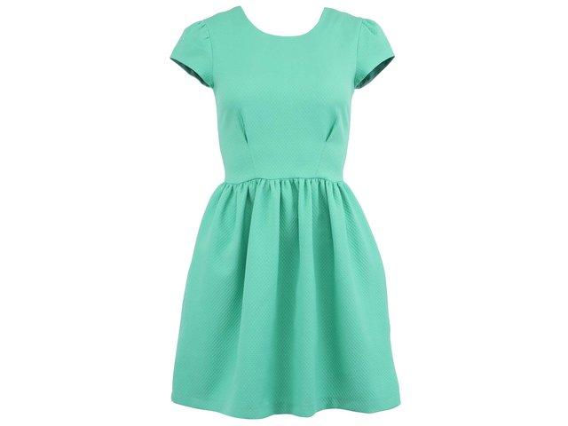 Zelené šaty s krátkými rukávy Almari