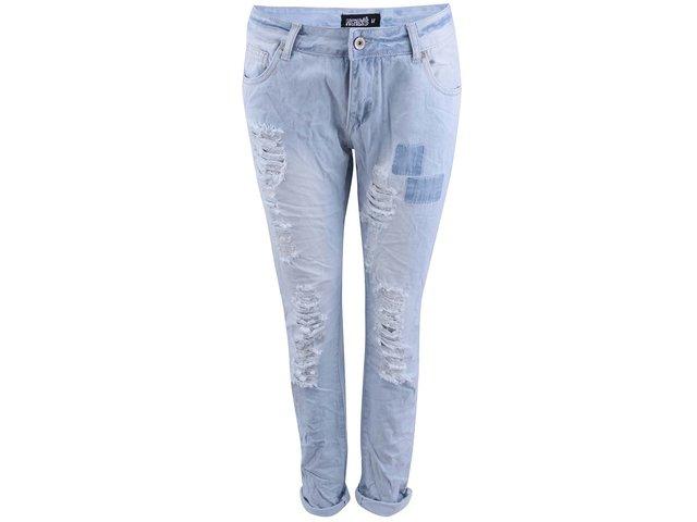 Světle modré dámské džíny s potrhaným efektem Haily´s Sara