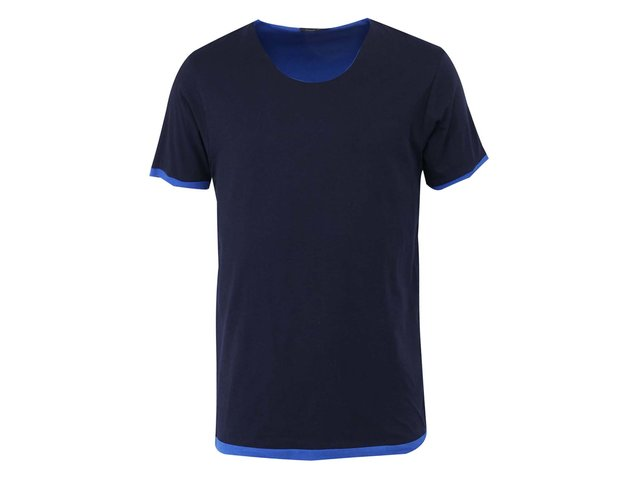 Tmavě modré dvojité triko Selected Inter