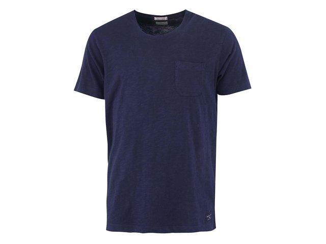 Tmavě modré triko s náprsní kapsou Selected Update