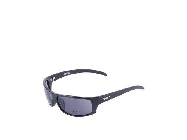Černé sportovní sluneční brýle Dice Two Tone