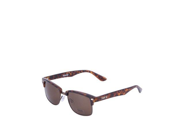 Hnědé sluneční brýle Dice Metal Plastic