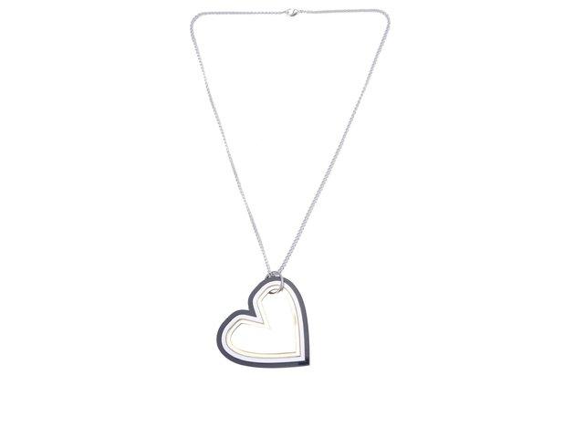 Náhrdelník s přívěskem ve tvaru trojitého srdce Lady Muck