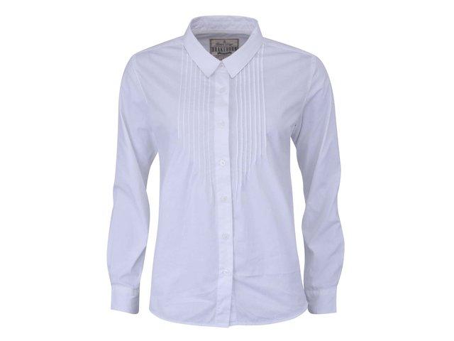 Bílá dámská košile s dlouhým rukávem Brakeburn Pintuck