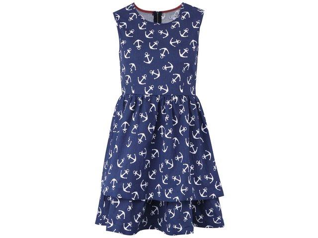 Tmavě modré džínové šaty s kotvičkami Kling Ancorine