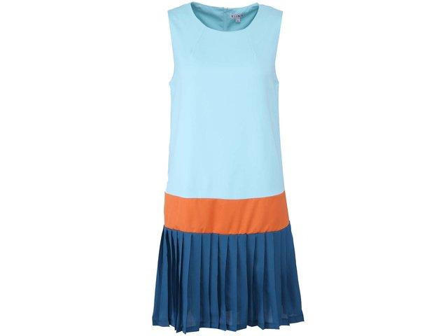 Zelené šaty s oranžovým lemem Kling Imola