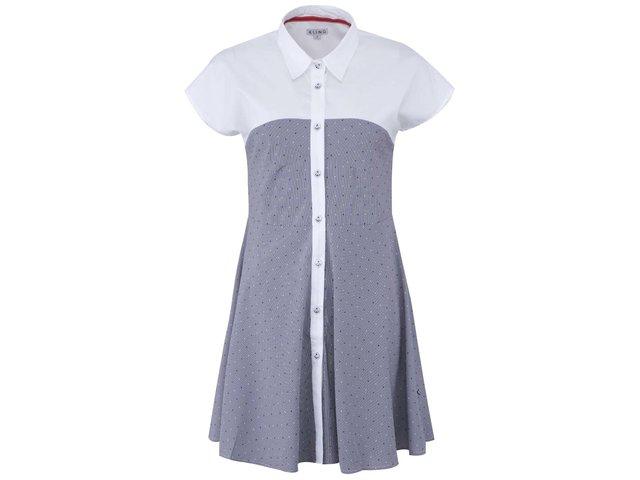 Bílo-modré košilové šaty Kling Giardini