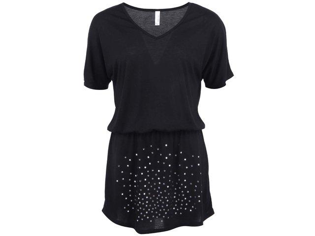 Černé dámské šaty se stříbrnými hvězdičkami ZOOT Originál