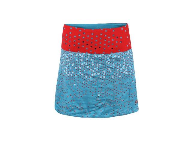 Červeno-tyrkysová vzorovaná sukně Skunkfunk Areatza