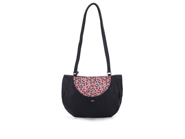 Černá kabelka s korálovým vzorováním Skunkfunk Aula