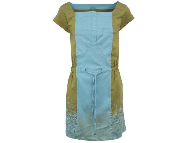 Olivovo-tyrkysové šaty Skunkfunk Buxanda