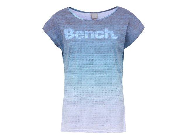 Zeleno-modré dámské vzorované tričko s nápisem Bench Weaver