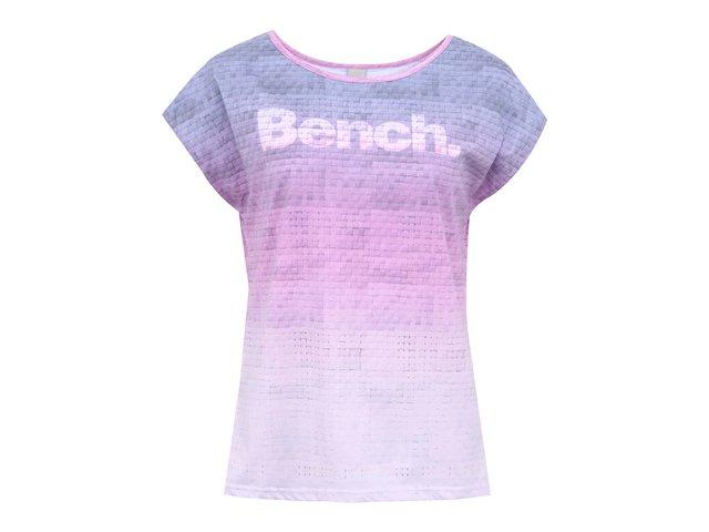Fialovo-růžové dámské vzorované tričko s nápisem Bench Weaver