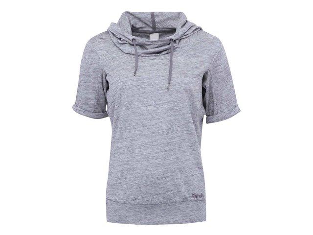 Šedé dámské žíhané tričko s kapucí Bench Rollreach