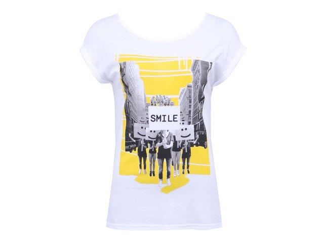 Bílé dámské tričko s potiskem Bench Smilestrike