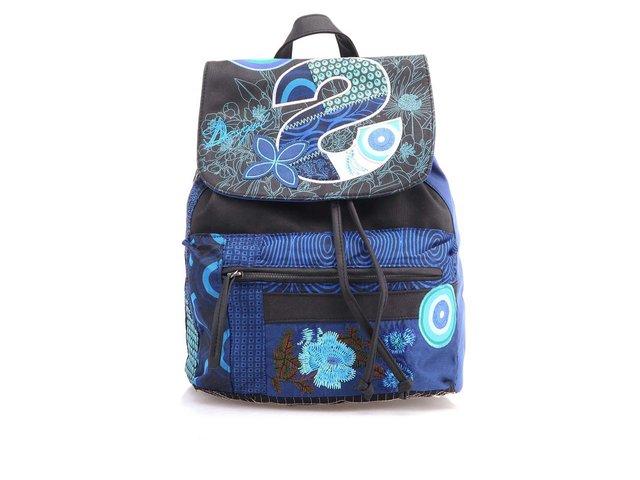 Modrý batoh  s nášivkami Desigual Oxford S Patch