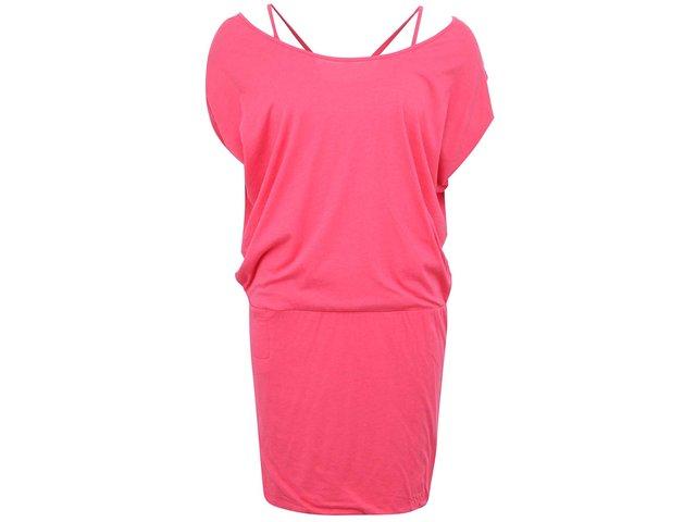 Růžové šaty s ramínky Bench Super Racer