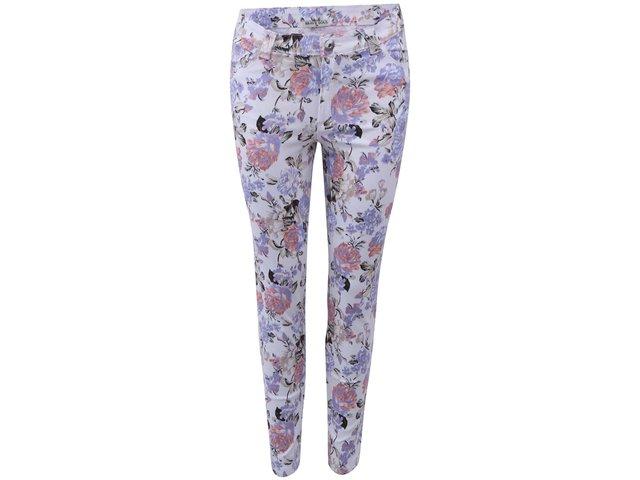 Bílé kalhoty s květinovým potiskem Brave Soul Candice
