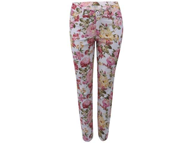 Krémové kalhoty s květinovým potiskem Brave Soul Jeanie