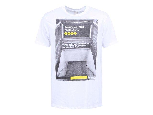 Bílé pánské triko s potiskem Bench Call In Sick