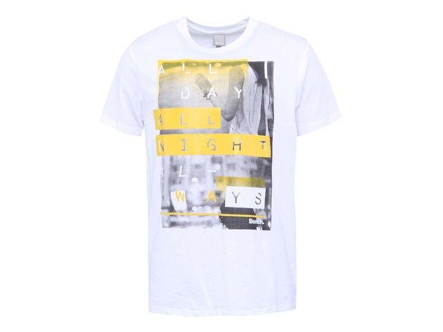 Bílé pánské triko s potiskem Bench All Ways