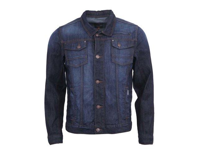 Tmavě modrá pánská džínová bunda Blend