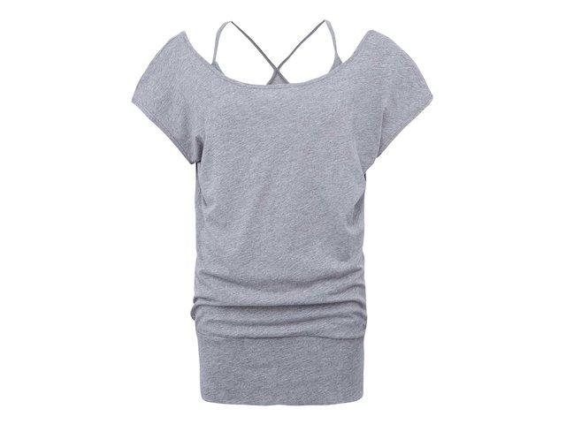 Šedé dámské delší tričko Bench Maybeagain