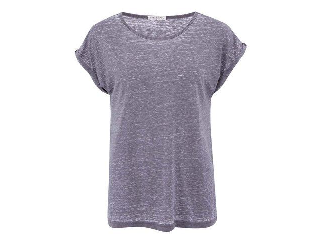 Tmavě šedé žíhané triko Brave Soul Leahr