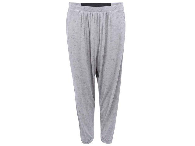 Šedé dámské žíhané kalhoty s nízkým sedem Bench Drapeler