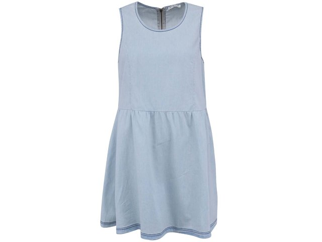 Světle modré džínové šaty s áčkovou sukní Brave Soul Tiffany