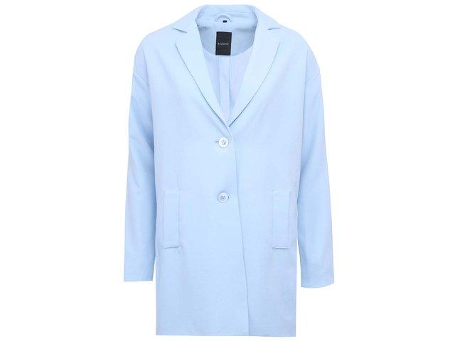 Světle modrý delší kabát b.young Catinka
