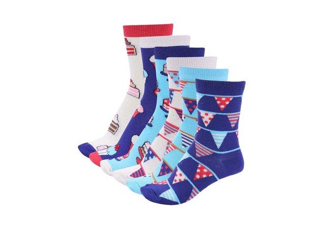 Sada šesti dámských narozeninových ponožek Oddsocks Cake