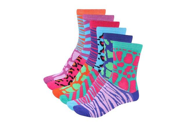 Sada šesti dámských ponožek Oddsocks Glamazon