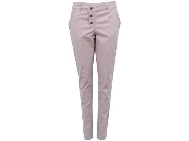 Béžové kalhoty s vyšším pasem b.young Kiss